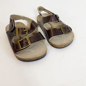 Old Navy Brown Birkenstock like sandals 0-3 month